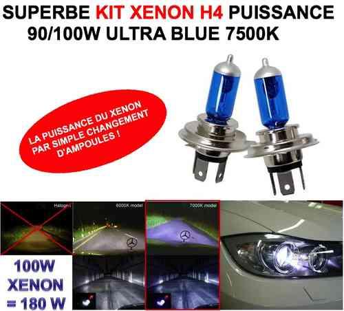 ampoule h4 100w xenon