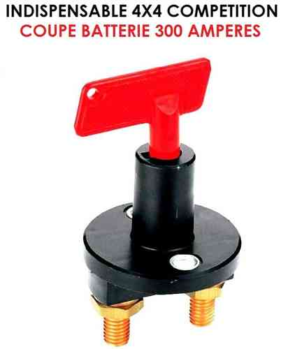 Indispensable Coupe Batterie 12V 300 Amp