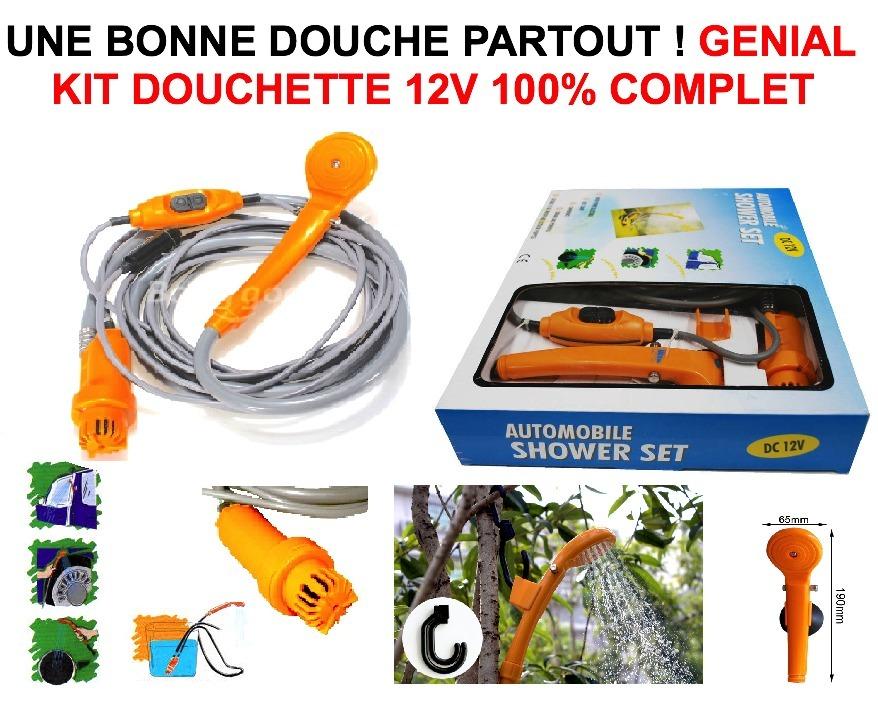 kit douchette 12v 12l mn economiseur d 39 eau le club mecanique. Black Bedroom Furniture Sets. Home Design Ideas