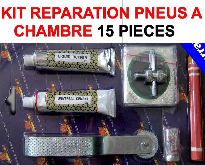 Kit r paration pneus chambre 15 pi ces le club mecanique for Chambre a air 13 5 6