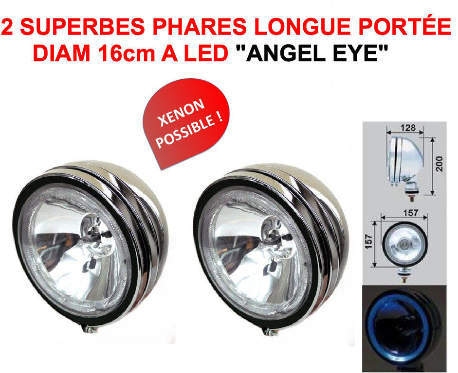 Angel Eye Phares Cm Avec Cerclage LED LE CLUB MECANIQUE - Feux longue portée led