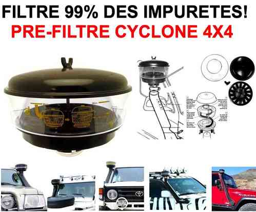 Indispensable Pre-Filtre Cyclonique 4X4 Quad Camion