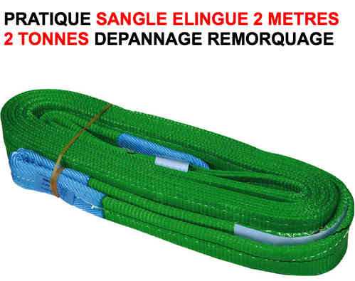 Pratique Sangle Elingue 2 metres 2 tonnes