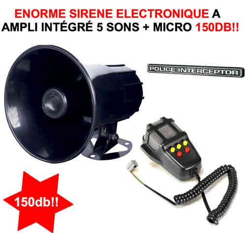 bruitage sirene police