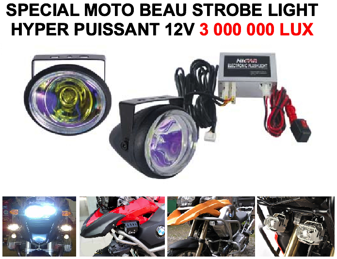 sp cial moto hyper puissant strobe light 3 000 000 lux le club mecanique. Black Bedroom Furniture Sets. Home Design Ideas