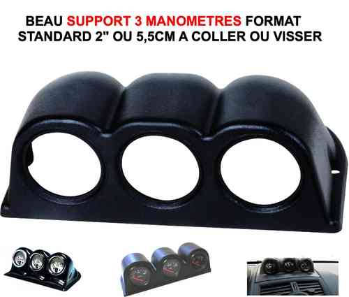 "Support 3 Manometres diam standard 2"" 5,5cm"