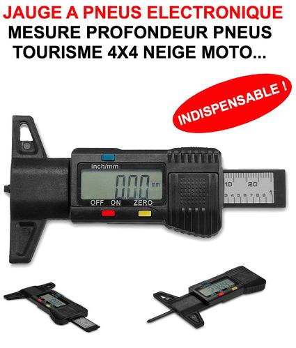 Jauge A Pneus Electronique ! Indispensable Auto Moto 4X4