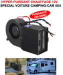 Ultra Puissant Compact Chauffage Soufflant 12V ! 250W et 500W Spécial Camping-Car 4X4 Voiture