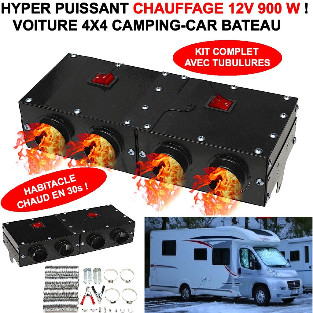 hyper puissant 900w compact chauffage soufflant 12v chauffe l 39 habitacle en 30s le club. Black Bedroom Furniture Sets. Home Design Ideas