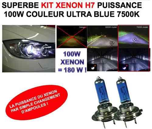 Ampoules H7 xenon 100W! la Puissance Xenon Par Simple ...