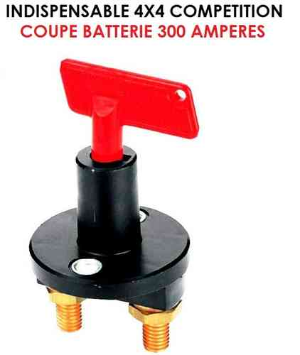 Indispensable Coupe Batterie 24V 300 Amp
