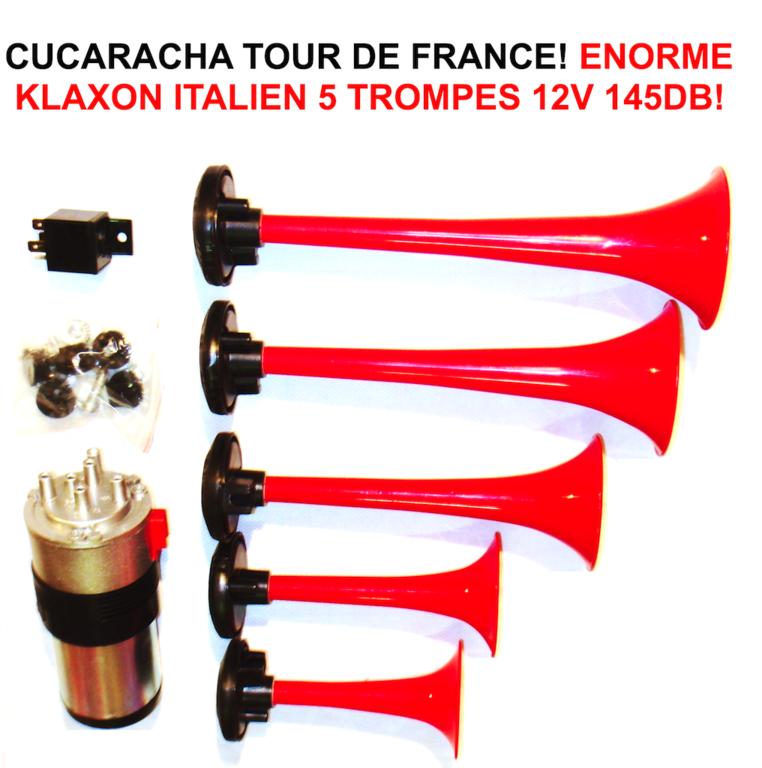 Klaxon La Marseillaise 12 Volt 5 trompes