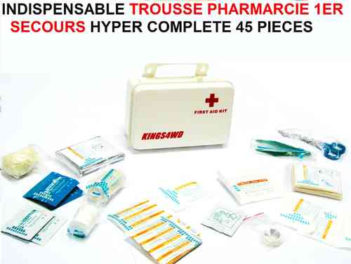 Indispensable Trousse a Pharmacie 1er Secours 45 Pieces