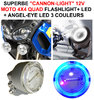 Superbe kit de 2 Cannon-light Diam 5cm avec Flashlight Diam 5cm + cerclage Angel Eye