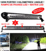 Portée 4km ! Barre Rampe de Phare LED + Matrix LED 180W Eclairage 3000W Xenon !