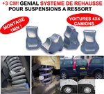 +3CM ! Kit de Rehausse +3 cm pour Suspension a Ressorts Montage 1mn !