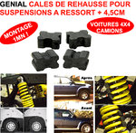 + 4,5 CM ! Kit de Rehausse + 4,5 cm pour Suspension a Ressorts Montage 1mn !